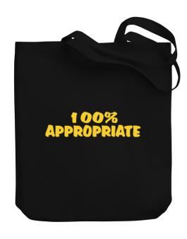 100% Appropriate Canvas Tote Bag