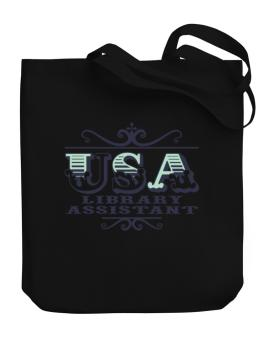 Usa Library Assistant Canvas Tote Bag