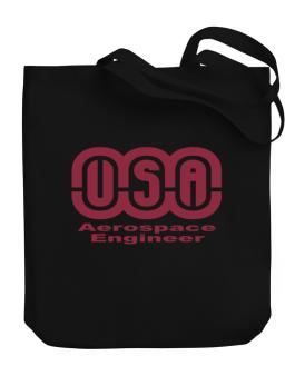 Usa Aerospace Engineer Canvas Tote Bag