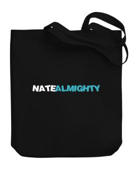 Nate Almighty Canvas Tote Bag