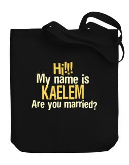 Hi My Name Is Kaelem Are You Married? Canvas Tote Bag