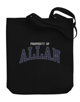 Property Of Allan Canvas Tote Bag