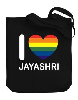 I Love Jayashri - Rainbow Heart Canvas Tote Bag