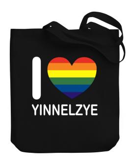 I Love Yinnelzye - Rainbow Heart Canvas Tote Bag