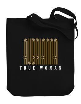 Aubrianna True Woman Canvas Tote Bag