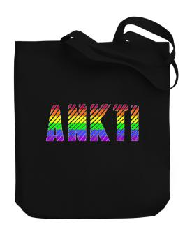Ankti Rainbow Colors Canvas Tote Bag