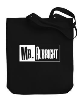 Mr. Albright Canvas Tote Bag
