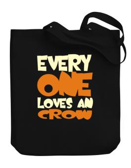 Everyone Loves A Crow Canvas Tote Bag