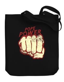 Pope Power Canvas Tote Bag