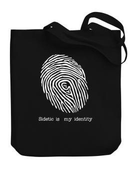 Sidetic Is My Identity Canvas Tote Bag