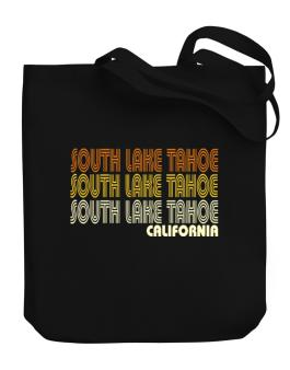 South Lake Tahoe State Canvas Tote Bag