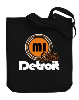 Detroit - State Canvas Tote Bag