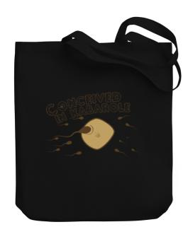 Conceived In Kabarole Canvas Tote Bag