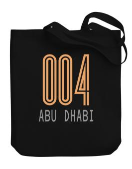 Iso Code Abu Dhabi - Retro Canvas Tote Bag