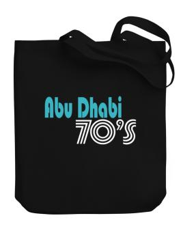 Abu Dhabi 70s Retro Canvas Tote Bag