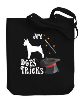 My Rat Terrier Does Tricks ! Canvas Tote Bag