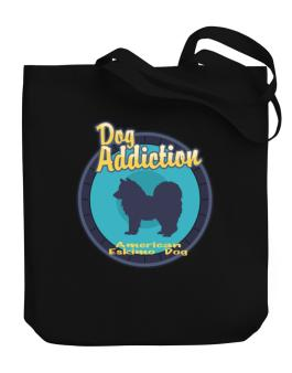 Dog Addiction : American Eskimo Dog Canvas Tote Bag