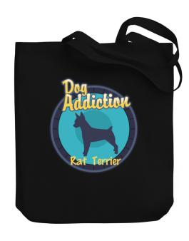 Dog Addiction : Rat Terrier Canvas Tote Bag