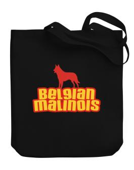 Breed Color Belgian Malinois Canvas Tote Bag