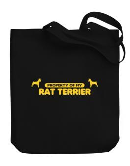 Property Of My Rat Terrier Canvas Tote Bag