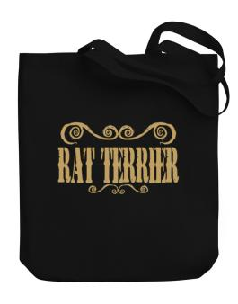 Rat Terrier - Ornaments / Urban Style Canvas Tote Bag
