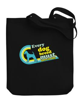 Irish Terrier : Every Dog Breed Must Have Its Day! Canvas Tote Bag