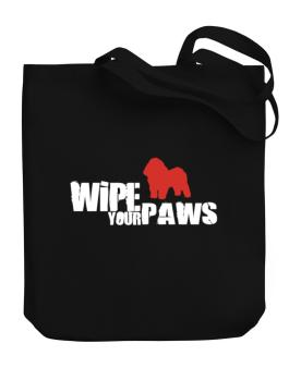 Wipe Your Paws - Bolognese Silhouette Canvas Tote Bag