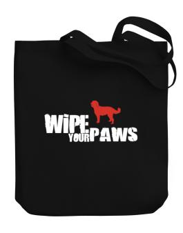 Wipe Your Paws - Labradoodle Silhouette Canvas Tote Bag