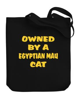Owned By S Egyptian Mau Canvas Tote Bag