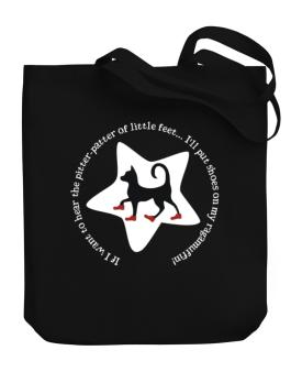 If I Want To Hear The Pitter-patter Of Little Feet ... Ill Put Shoes On My Ragamuffin Canvas Tote Bag