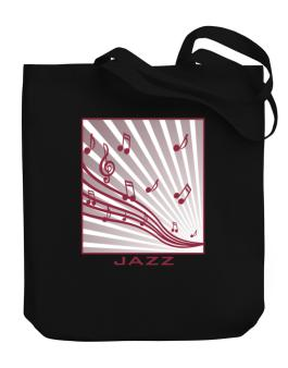 Jazz - Musical Notes Canvas Tote Bag