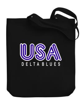Usa Delta Blues Canvas Tote Bag