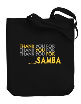 Thank You For Samba Canvas Tote Bag
