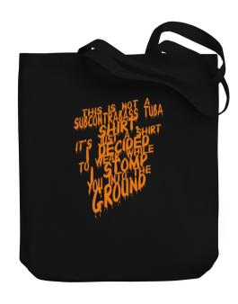 This Is Not A Shirt Canvas Tote Bag