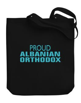 Proud Albanian Orthodox Canvas Tote Bag