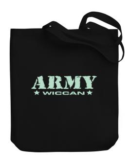 Army Wiccan Canvas Tote Bag