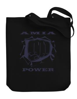 Amia Power Canvas Tote Bag