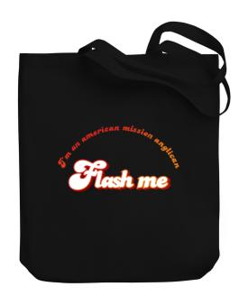 Flash Me Im An American Mission Anglican Canvas Tote Bag
