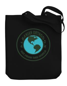 Albanian Orthodox Not From This World Canvas Tote Bag
