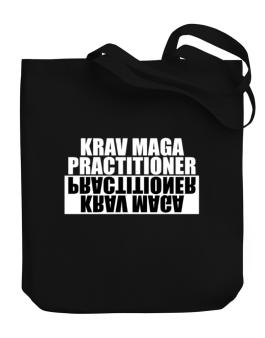 Krav Maga Practitioner Negative Canvas Tote Bag