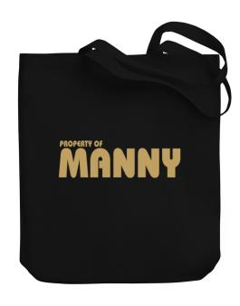 Property Of Manny Canvas Tote Bag