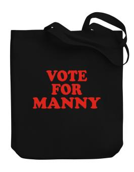 Vote For Manny Canvas Tote Bag