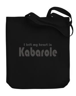 I Left My Heart In Kabarole Canvas Tote Bag