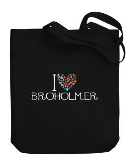 I love Broholmer colorful hearts Canvas Tote Bag
