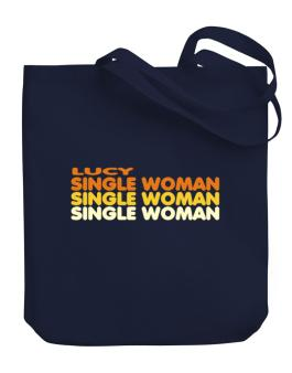 Lucy Single Woman Canvas Tote Bag