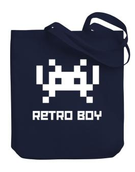 Retro Boy Canvas Tote Bag