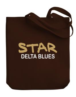 Star Delta Blues Canvas Tote Bag