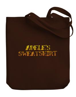 """ Adeles Sweatshirt "" Canvas Tote Bag"