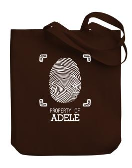 Property of Adele fingerprint 2 Canvas Tote Bag
