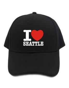 I Love Seattle Baseball Cap